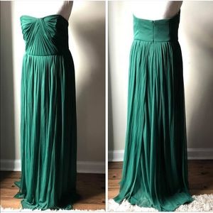 Emerald David's Bridal strapless gown